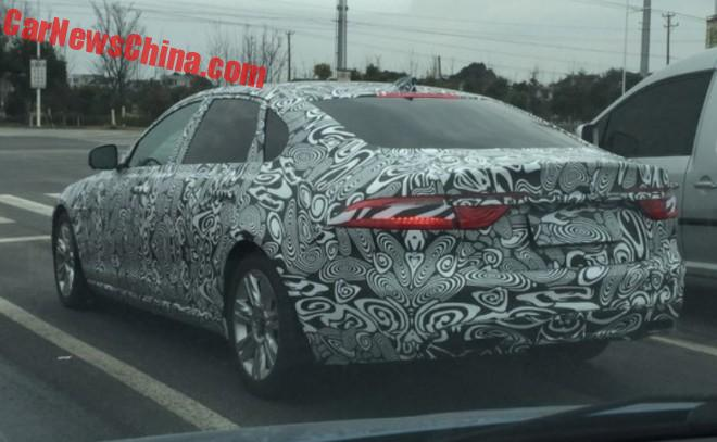 Spy Shots: Jaguar XFL testing in China