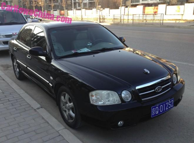 Spotted in China: first generation Kia Optima