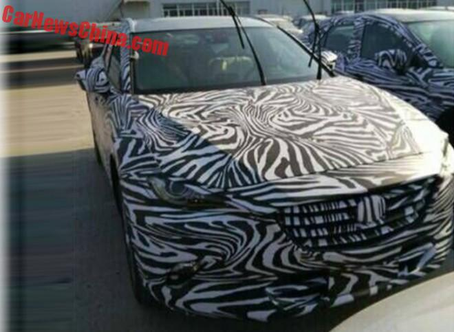 Spy Shots: production version of the Mazda Koeru testing in China
