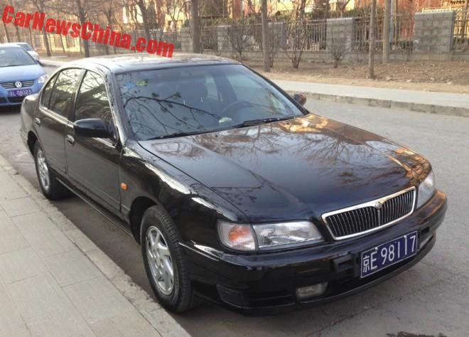 Spotted in China: A32 Nissan Cefiro V6 24V in Black