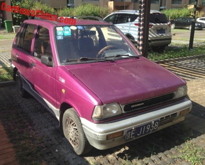 Spotted in China: Suzuki Alto City Baby in Purple Pink