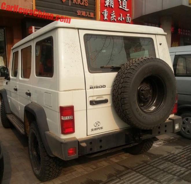 Spy Shots: Beijing Auto BJ80D hits the road