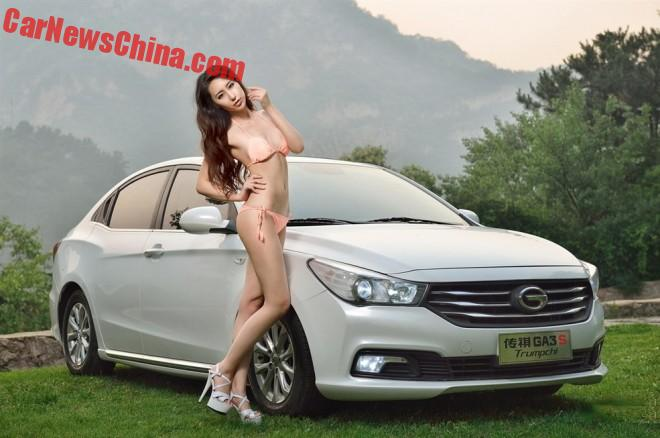 Chinese Car Girl gets Close to a Guangzhou Auto Trumpchi GA3S