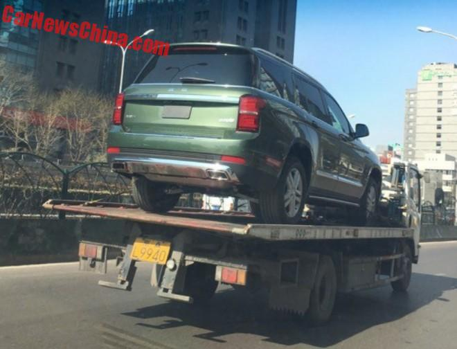 Beijing Auto BJ90 on a Truck in China