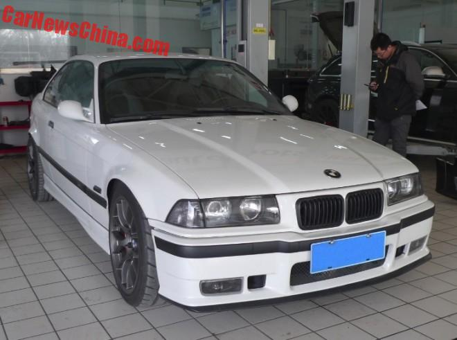 An E36 BMW M3 with a Chevrolet Camaro LS3 engine in China