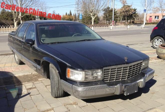 Spotted in China: Cadillac Fleetwood Brougham in black in Beijing