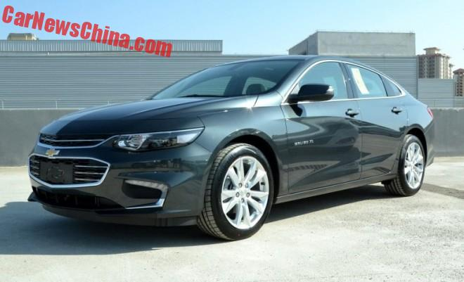 Chevrolet Malibu XL is Naked from all Sides in China