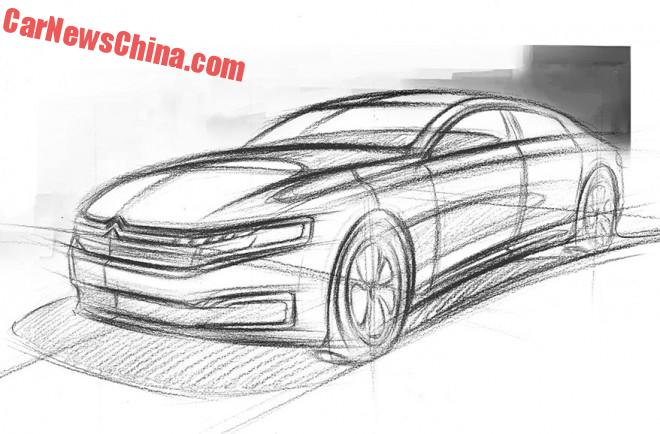 Citroen teases the new C6 for China