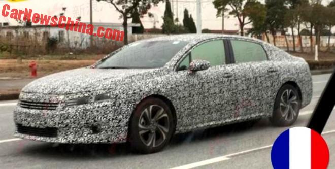 Spy Shots: new Citroen C6 sedan seen Testing in China