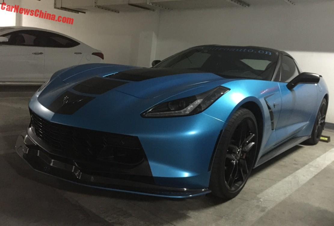 Chevrolet Corvette Stingray Is Matte Blue And Modified In