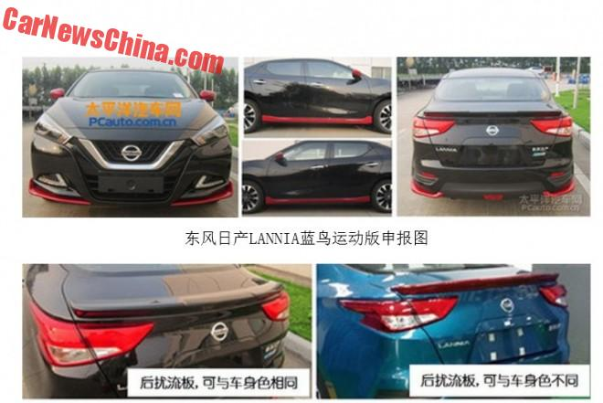 Nissan Lannia is going Sporty in China