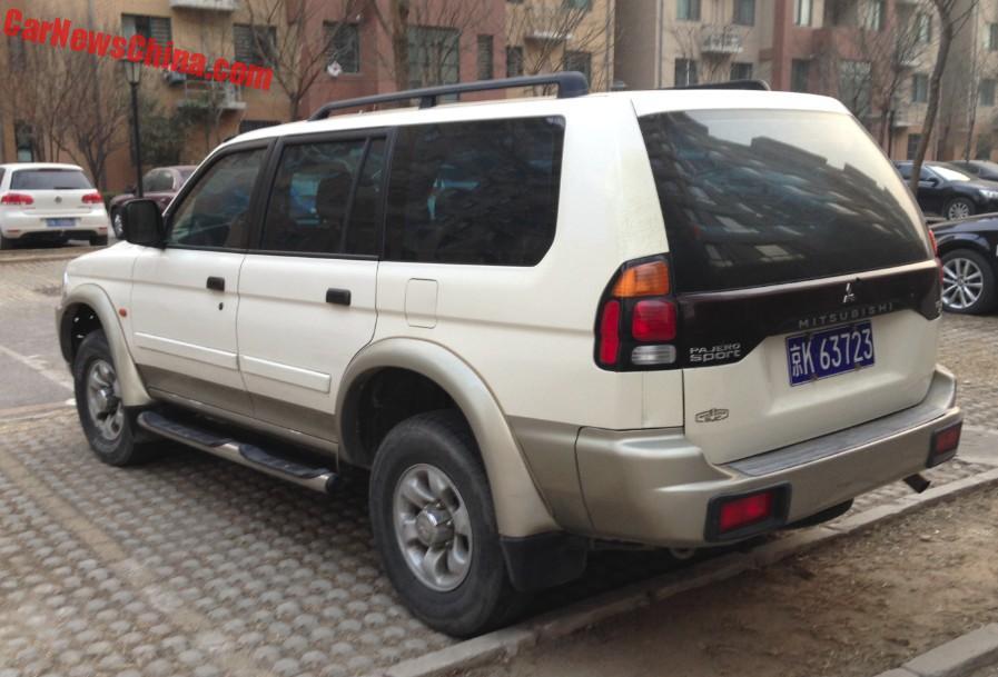 Spotted In China Beijing Jeep Mitsubishi Pajero Sport