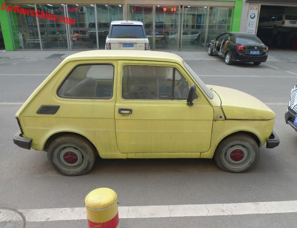 Polski Fiat 126P is yellow and dusty in China  CarNewsChina.com