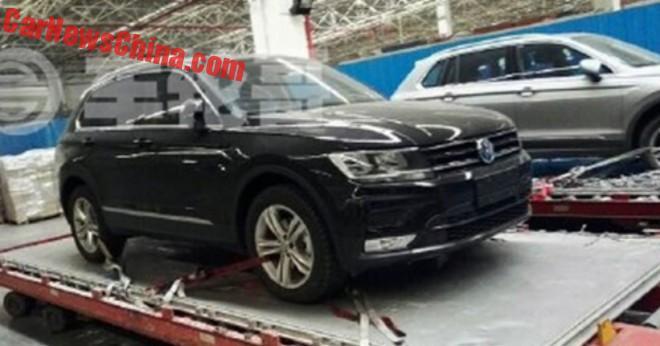 Spy Shots: 2017 Volkswagen Tiguan is Naked in China