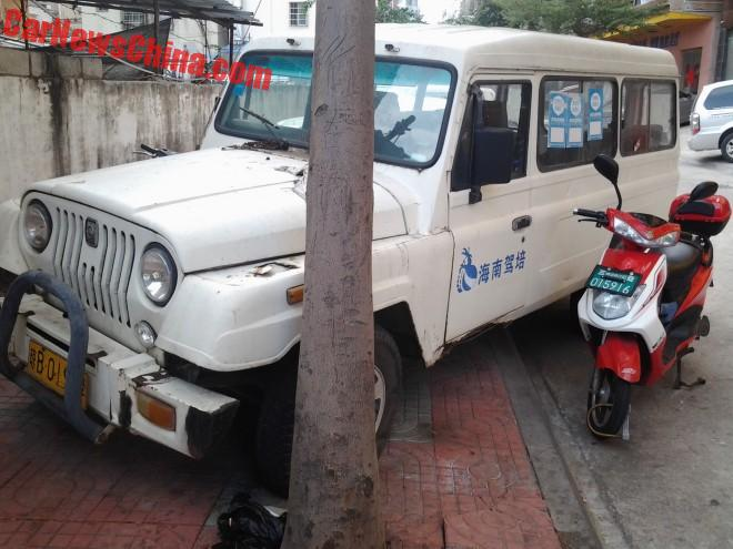 Spotted in China: Beijing Auto Works Zhanqi BJ2030CET1 Driver Trainer Car
