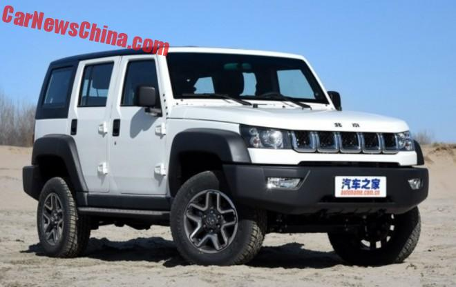 This is the Beijing Auto BJ40L for China