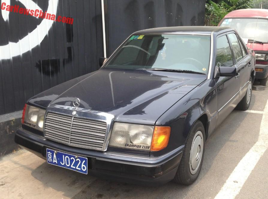 Spotted in china first generation mercedes benz 230e for Mercedes benz china