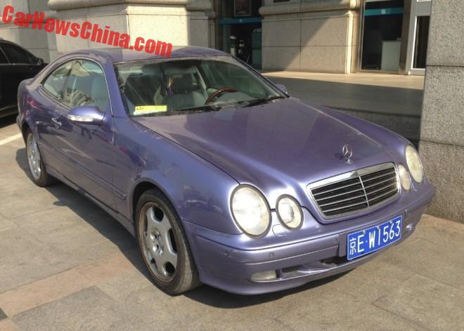 First generation Mercedes-Benz CLK230 Kompressor is Purple in China