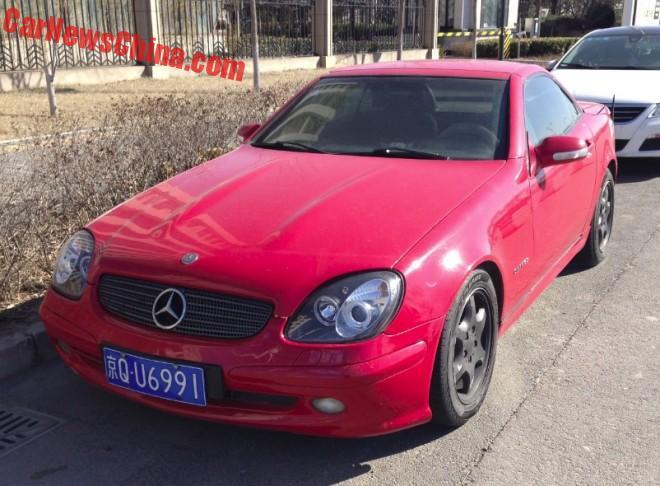 First generation Mercedes-Benz SLK230 Kompressor is Red in China