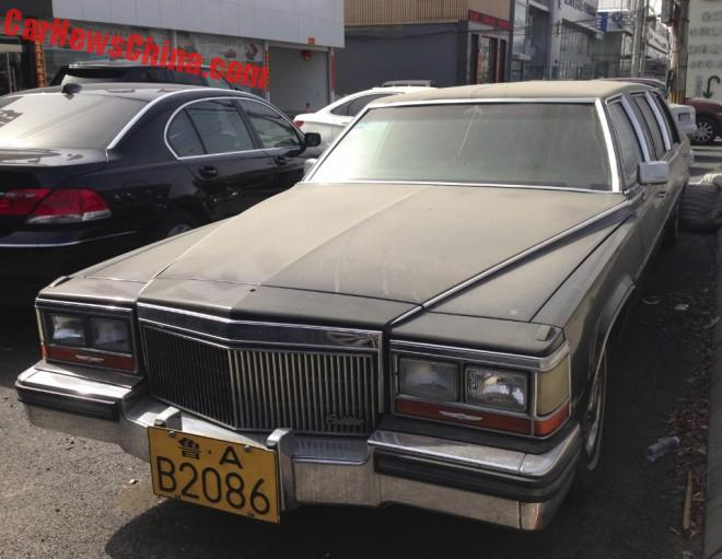 Spotted in China: Cadillac Brougham stretched limousine in Black