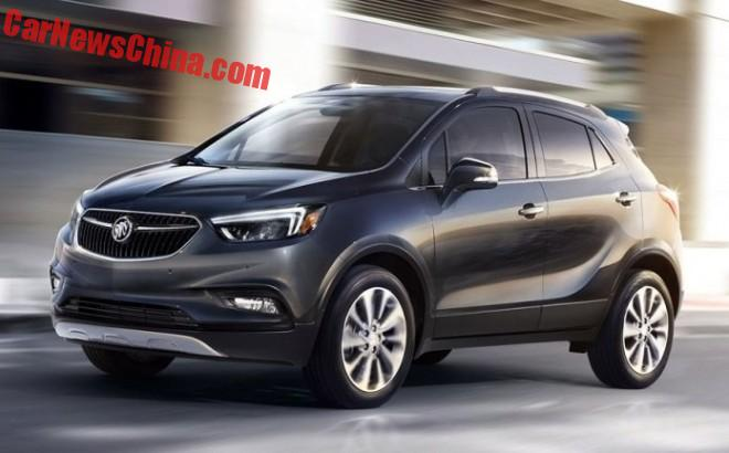 Official Photos of the facelifted Buick Encore for China