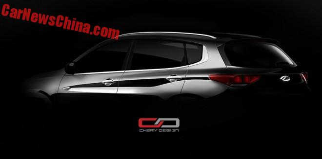 Chery teases the new Tiggo 7 SUV for China
