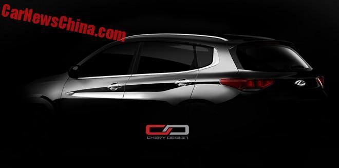 Chery teases the new Tiggo 7 SUV for China