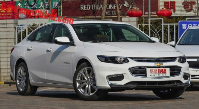 Chevrolet Malibu XL launched on the Chinese car market