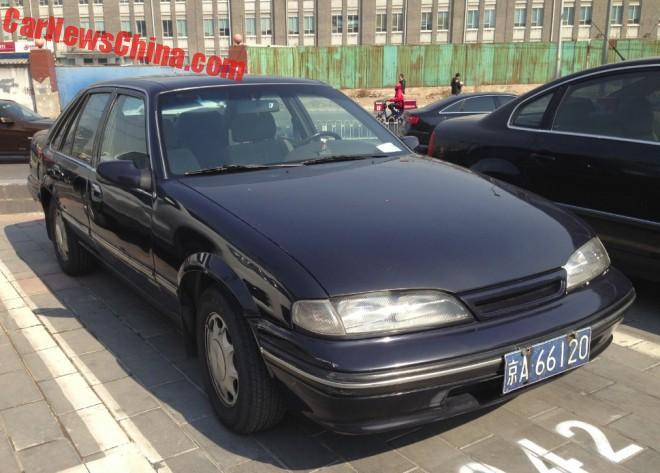 Spotted in China: Daewoo Prince sedan in Black