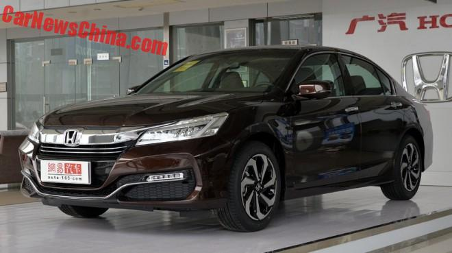 Facelifted Honda Accord hits the Chinese car market