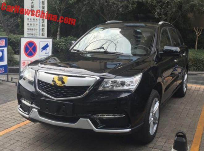 This is the Jinbei MS3 Acura MDX clone from China