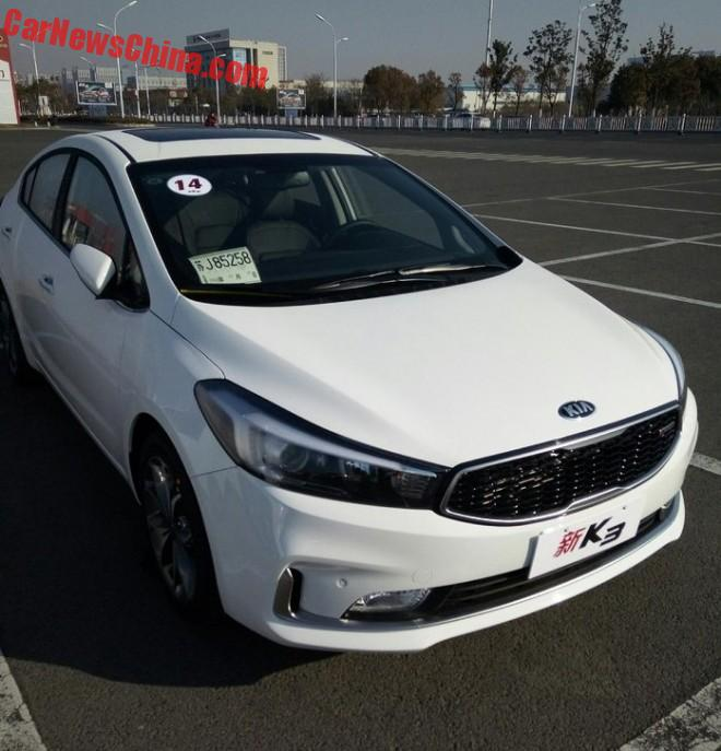 Spy Shots: new Kia K3 is Ready for China