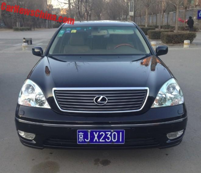 Spotted in China: third generation Lexus LS430 sedan