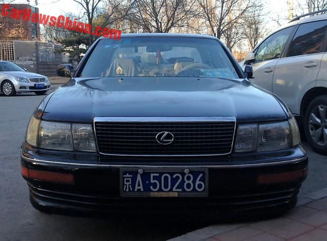 Spotted in China: first generation Lexus LS400 sedan