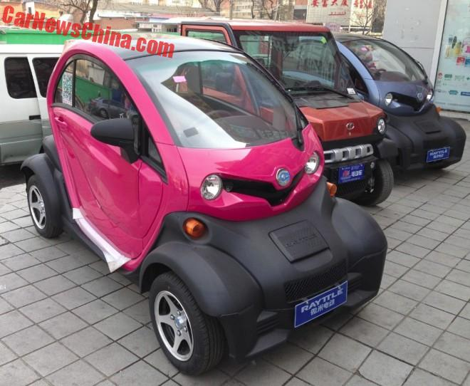 The Rayttle E28 in pink and other LSEV's from China