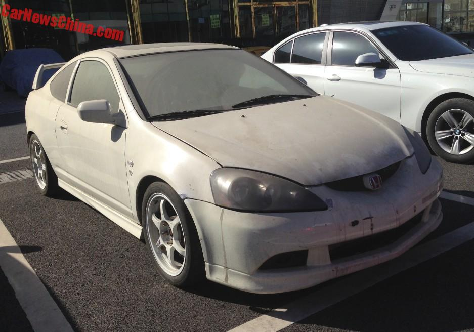This Is A Fourth Generation Series DC5 Honda Integra Type R Complete With Red Badges And Big Wing On The Back Was Manufactured From 2001