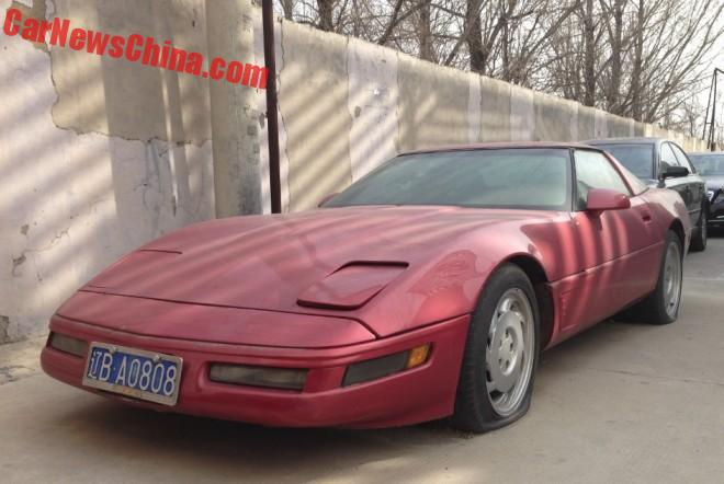 Spotted In China: C4 Chevrolet Corvette In Red
