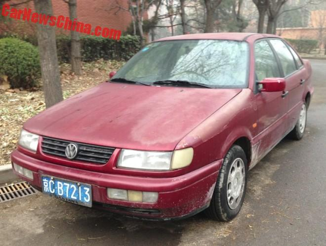 Spotted in China: Volkswagen Passat B4