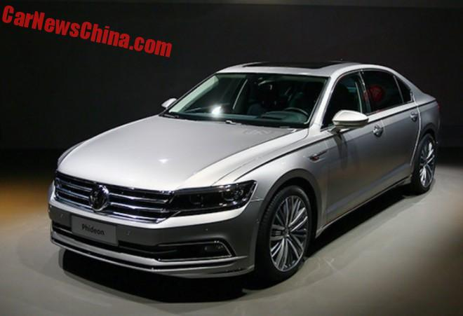 Volkswagen Phideon debuts in Geneva for China