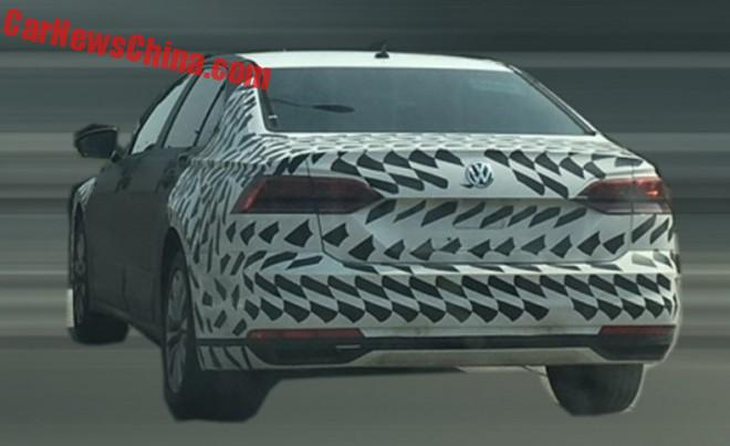 Spy Shots: Volkswagen Phideon testing in China