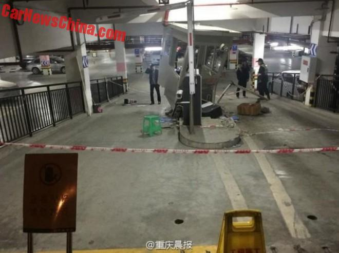 Chinese woman causes MAYHEM in underground parking lot
