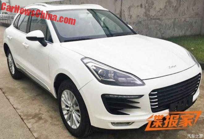This is the Zotye SR8 Porsche Macan clone from China