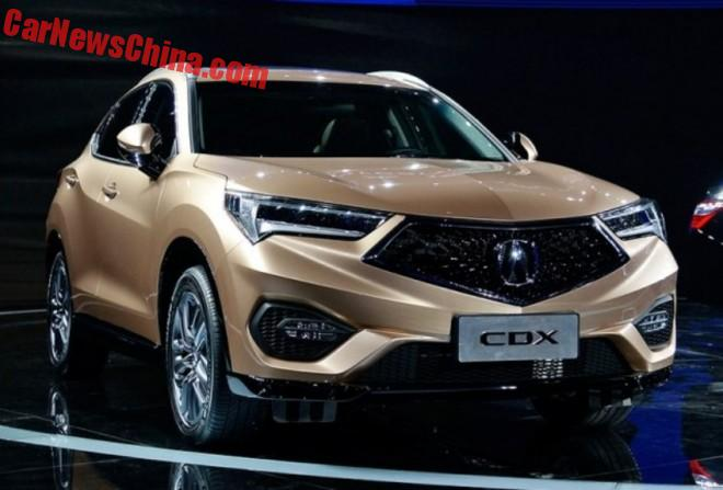Acura CDX launched on the Beijing Auto Show