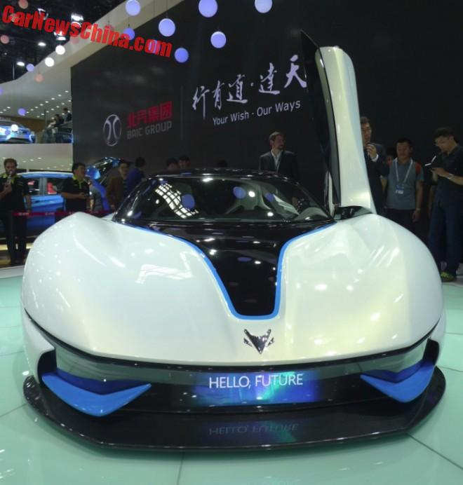 Beijing Auto ArcFox-7 electric supercar debuts on the Beijing Auto Show