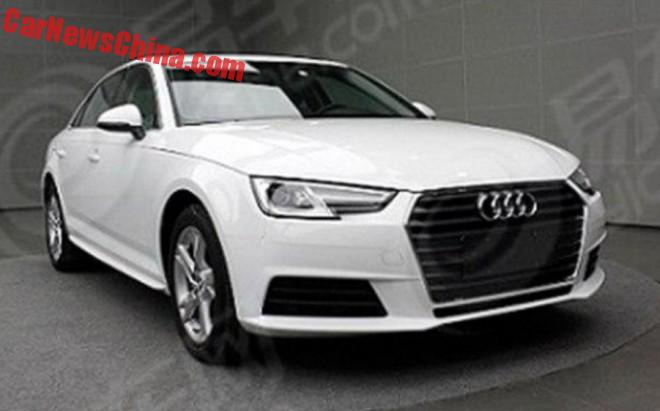 Spy Shots: new Audi A4L is Ready for China
