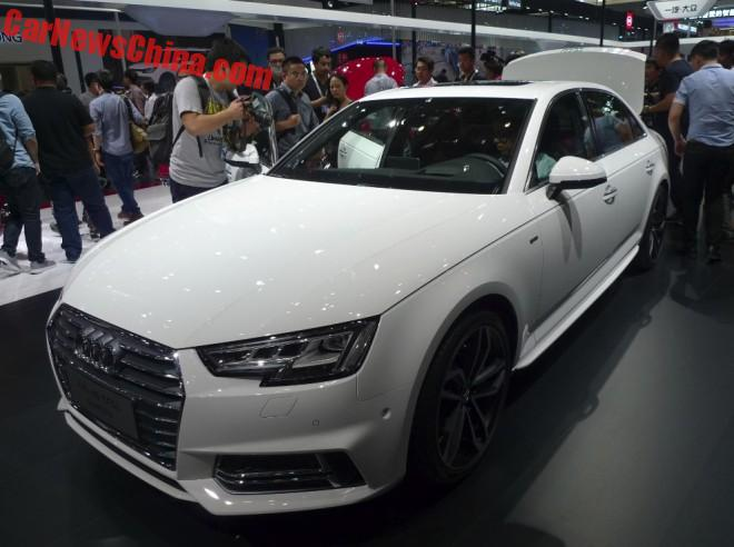 Audi A4L launched on the Beijing Auto Show