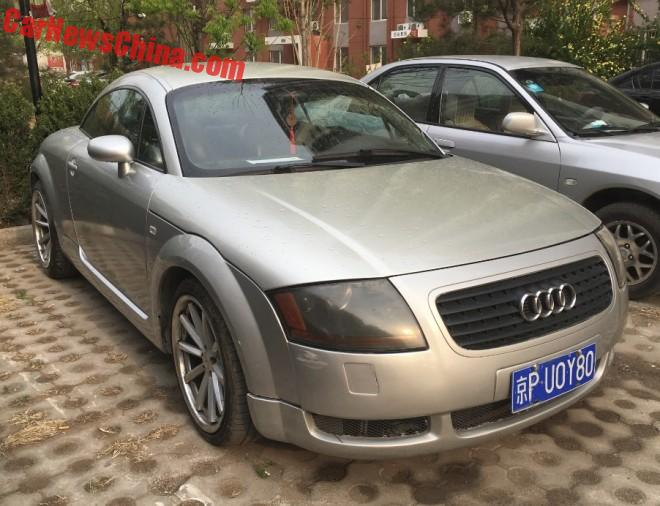 Spotted in China: first generation Audi TT Coupe