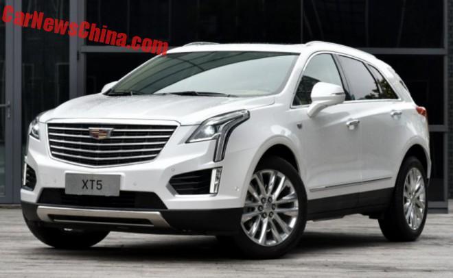 China-made Cadillac XT5 hits the Chinese car market