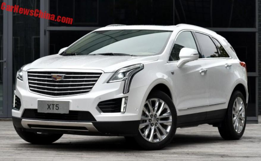 china made cadillac xt5 hits the chinese car market. Black Bedroom Furniture Sets. Home Design Ideas