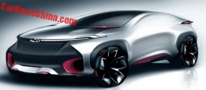Chery teases the FV2030 concept car for the Beijing Auto Show